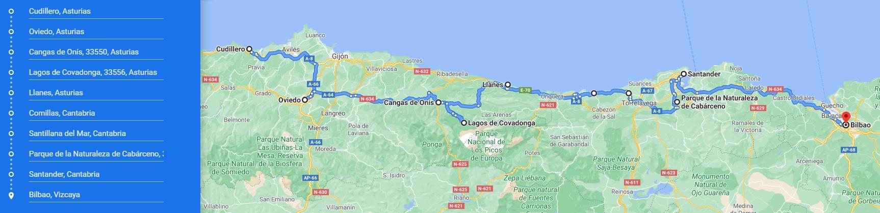 Ruta Norte España
